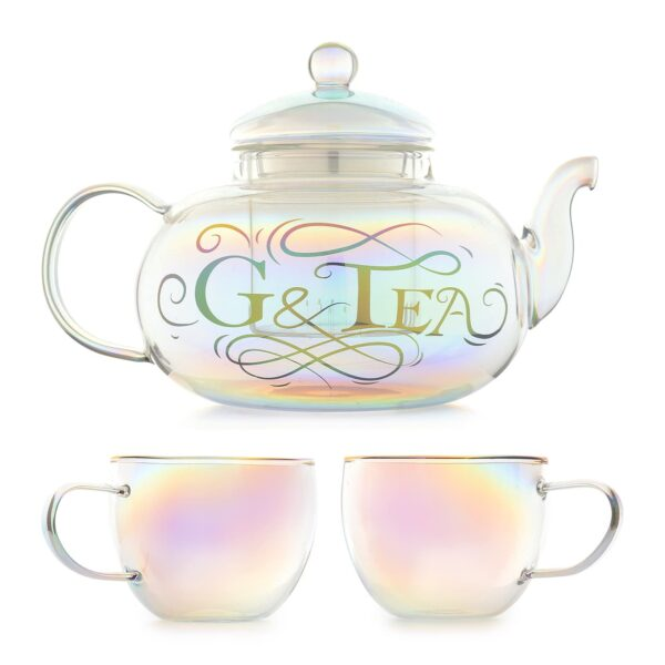 Gin Teapot and Glasses Gin And Tonic Cocktail Gift Set 800ml