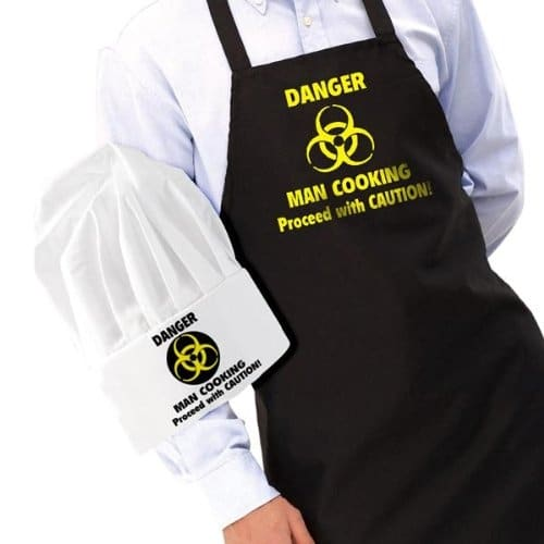 Dangerman Chef Hat and Apron Set