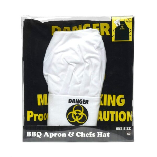 Dangerman Chef Hat and Apron Set Packaging