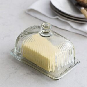 Glass Butter Dish 1