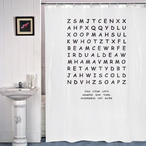 Word Search Shower Curtain