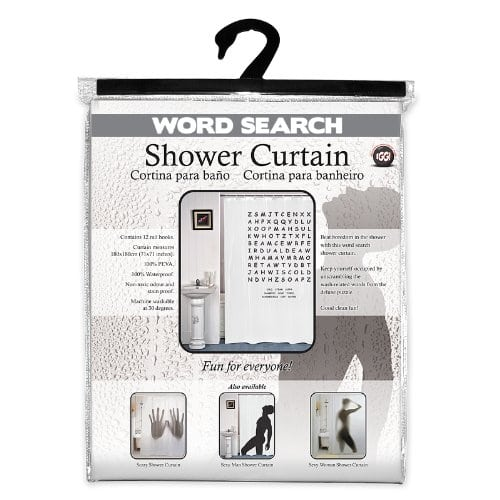 Word Search Shower Curtain 2