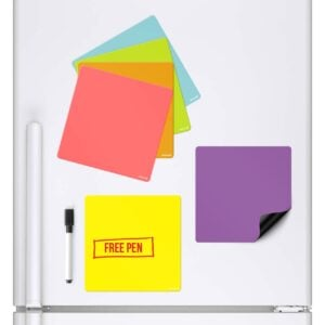 Coloured Squares Magnetic Whiteboard Fridge Board