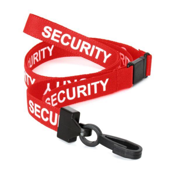 SECURITY Pre-Printed Lanyard Red