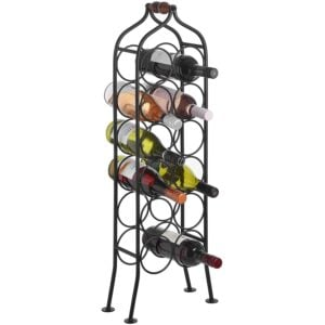 12 Bottle Iron Rack 1