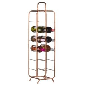 12 Bottle Copper Rack 1