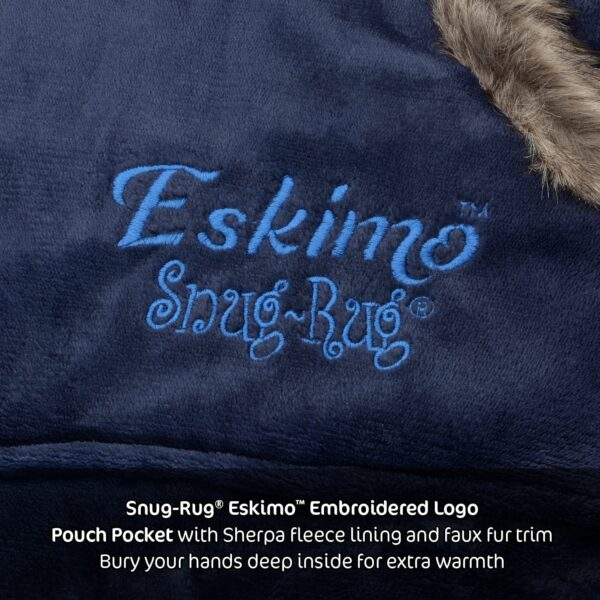 Snug Rug Eskimo Blanket Hoodie Oversized Giant Sweatshirt - Navy Blue-9593