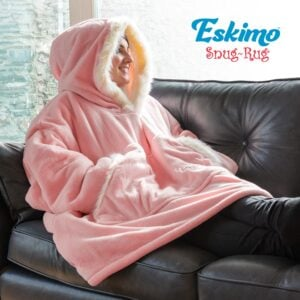 Snug Rug Eskimo Blanket Hoodie pink