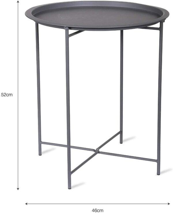 grey bistro table