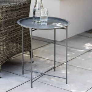 grey bistro table