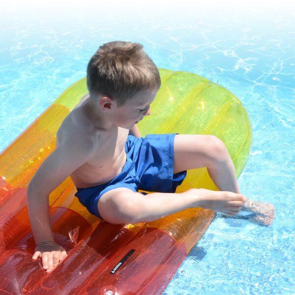 pool lounger orange