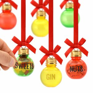 Eat, Drink & Be Merry Christmas Gift Baubles | 50ml | Pack of 6