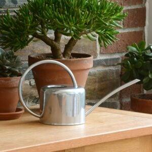 Small Silver Galvanised Steel Vintage 1.1L Indoor Watering Can