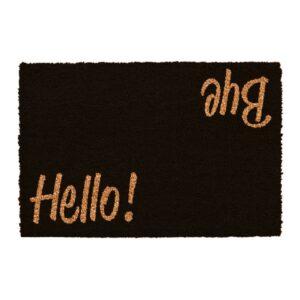 Hello Bye Black Doormat