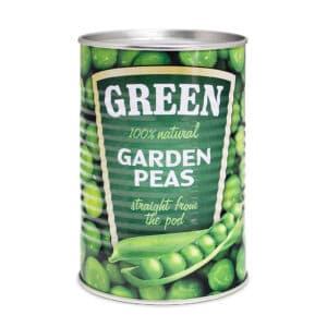 Secret box Garden peas tin