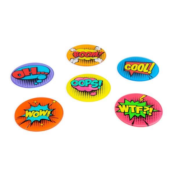 comic glass coasters