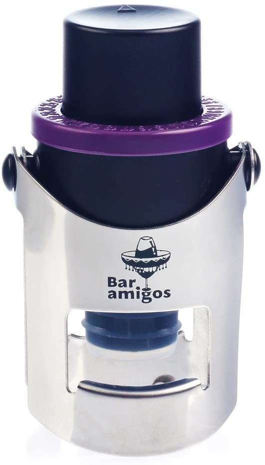 purple champagne stopper