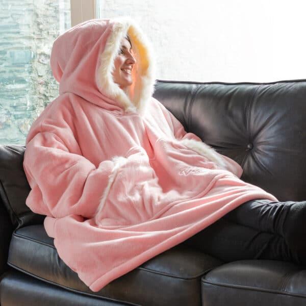 Snug-Rug Eskimo Hoodie Decke