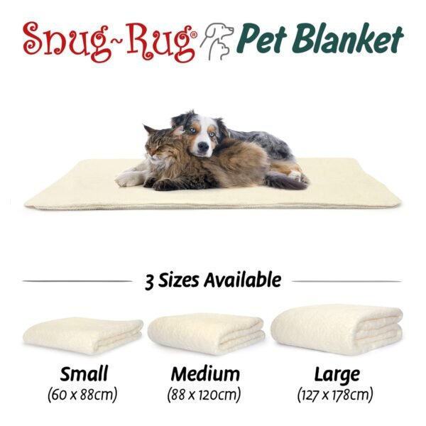 Snug-Rug Pet Blanket for Dogs & Cats Cream