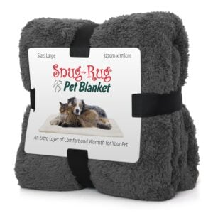 Snug-Rug Pet Blanket for Dogs and Cats Slate Grey