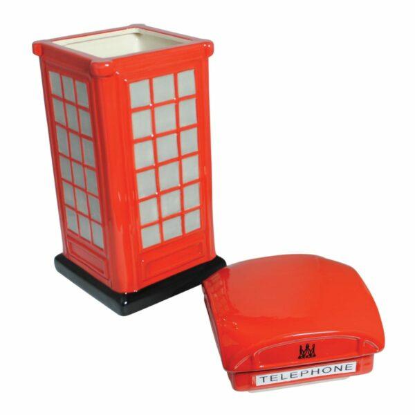 Phone box cookie jar