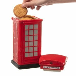 Phone box biscuit tin