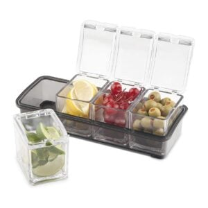 Condiment Dispenser Holder with 4 Compartments