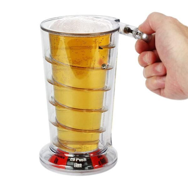 Barbuzzo Pinball Pint Glass The Fun Drinking Game