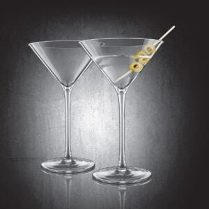Set of 2 Final Touch® DuraShield™ Martini Glasses