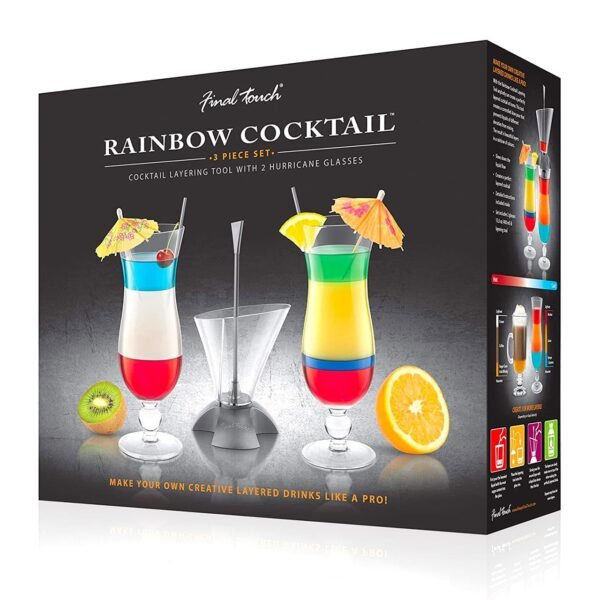 Final Touch Rainbow Cocktail Layering Tool Set