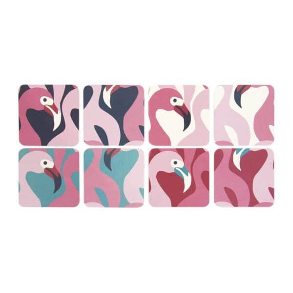 Set of 8 Flamingo Coasters
