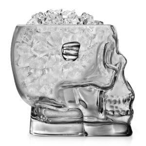1.6 Litre Final Touch Glass Skull Ice Bucket