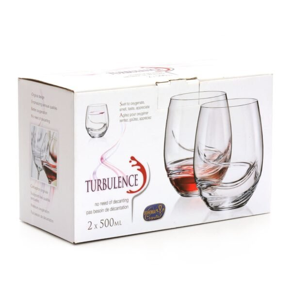 500ml Stemless Bohemian Crystal Wine Glasses