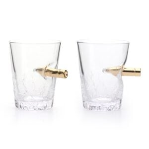 Novelty Shot Glasses Bullet Crack Glass 60ml