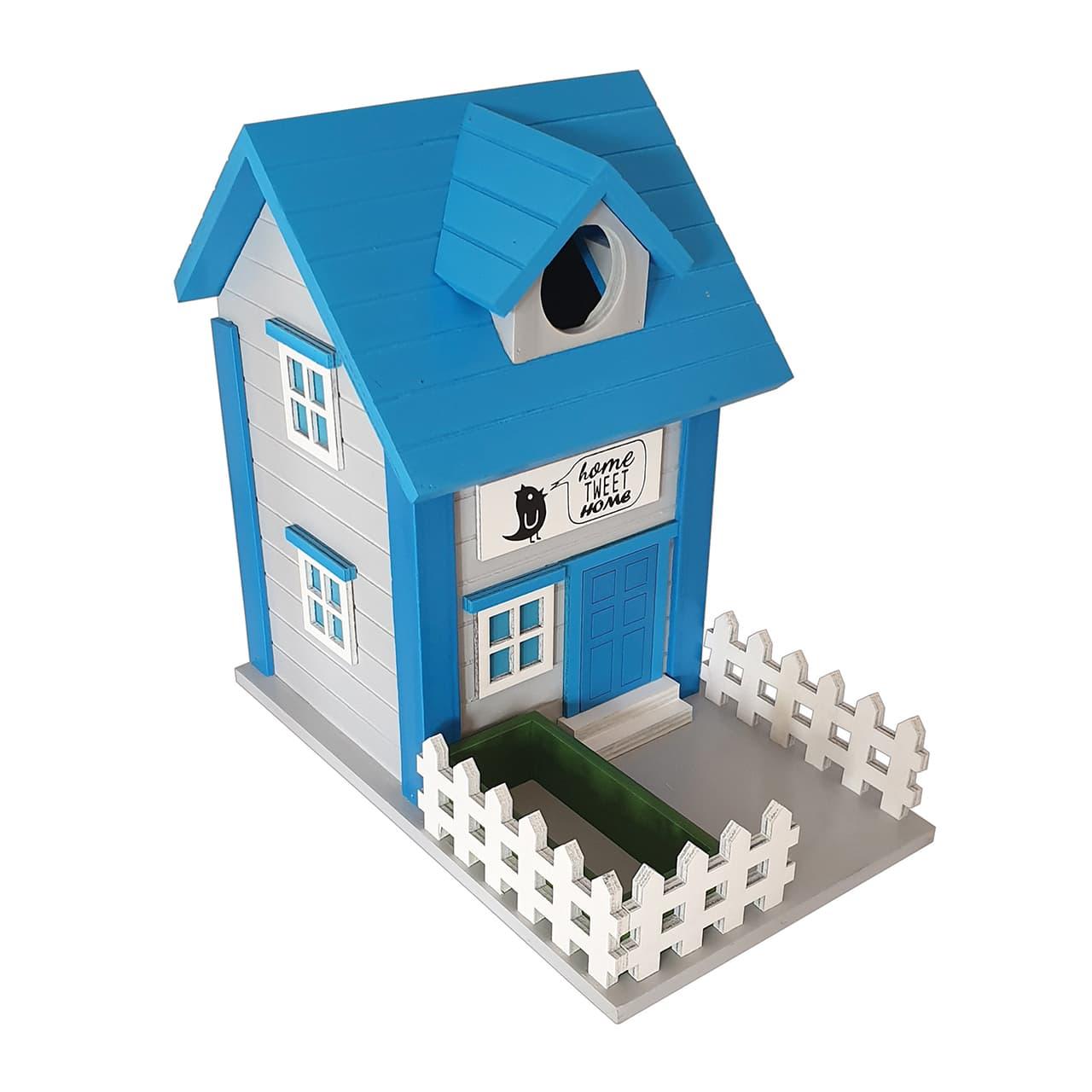 Alimentador de ardilla de madera 2 en 1 o caja de nido de p/ájaros para jard/ín al aire libre CKB LTD