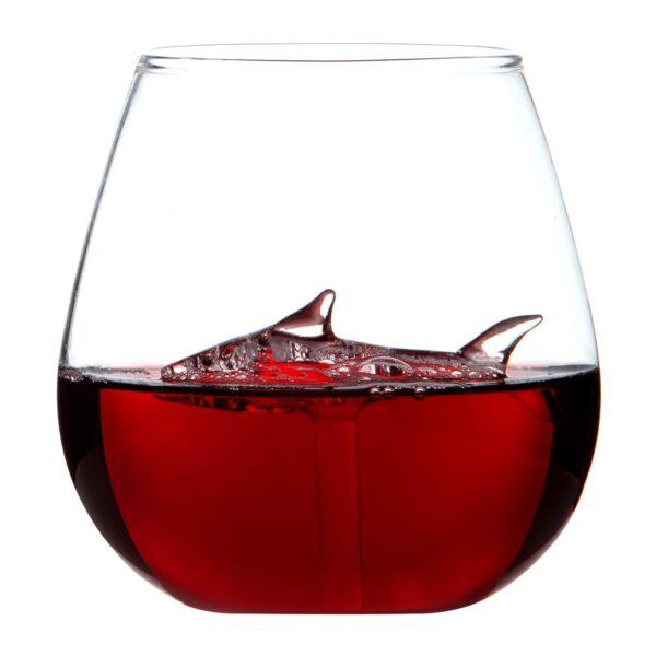 Shark in Glass Tumbler