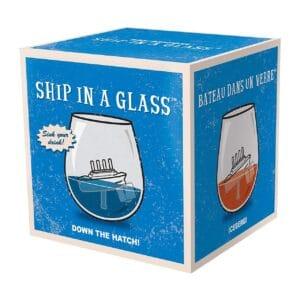 Boat in Glass Tumbler