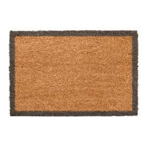 Grey Border Novelty Coir Doormat