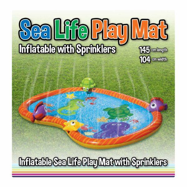 Water-Filled Inflatable Sea Life Water Sprinkler Play Mat / Paddling Pool