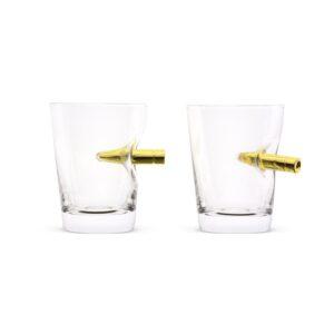Set of 2 60ml Take the Shot Crystal Shot Bullet Glasses