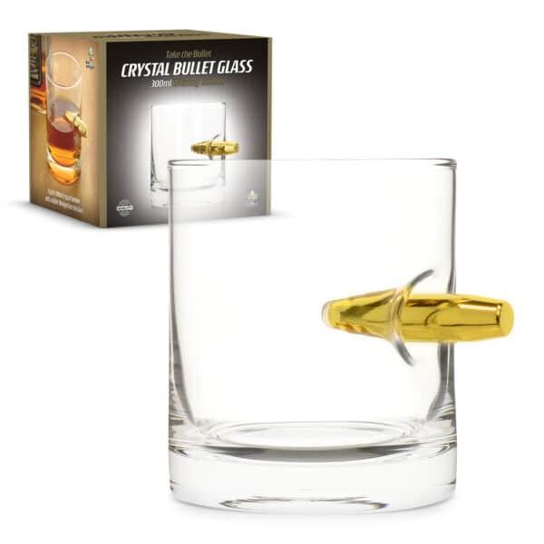 300ml Take the Bullet Crystal Whisky Tumbler Bullet Glass