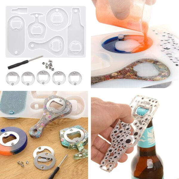 Create your own Bottle Opener Epoxy Resin Silicone Mould Set