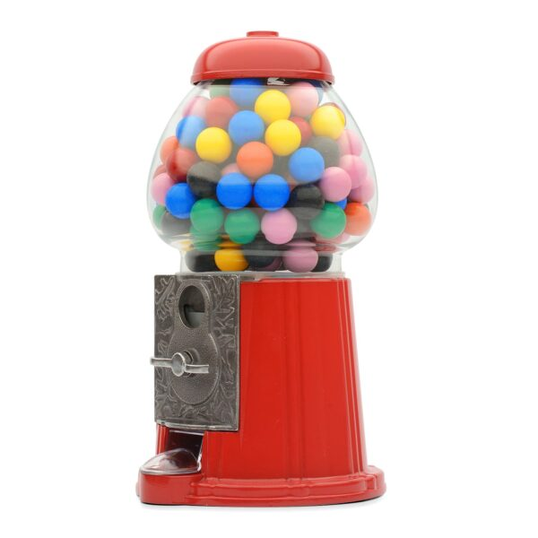 Retro Coin Operated Gumball Machine Sweet Dispenser Money Bank Box